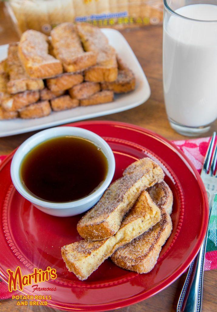 Eggnog French Toast Sticks