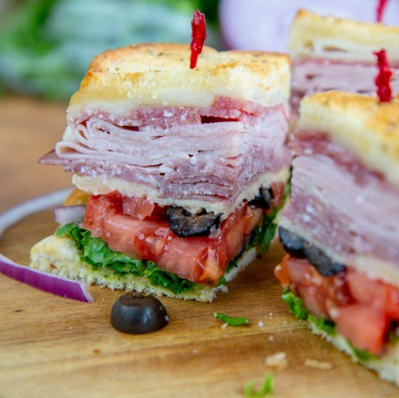 Hot Italian club sandwich
