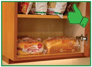 Bread in Cabinet